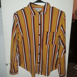 A vertical striped long sleeve